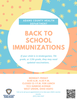 Back to School imunizations