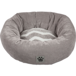 Snz Zigzag Donut Bed Gry/Wh Zigzag Gry Cord 17 in