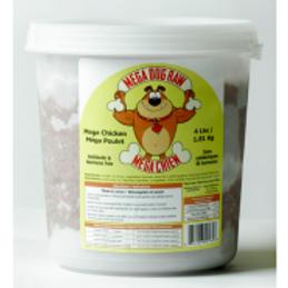 Mega Dog Raw Chicken Tub 4 lb