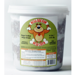 Mega Dog Raw Turkey Tub 4 lb