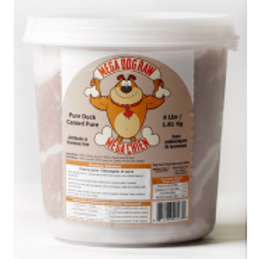 Mega Dog Raw Pure Duck Tub 4 lb