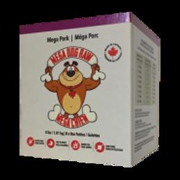 Mega Dog Raw Pork Patties 4 lb