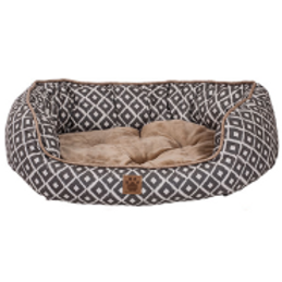 Snz Ikat Daydreamer Bed Gray 32x25x9.5""