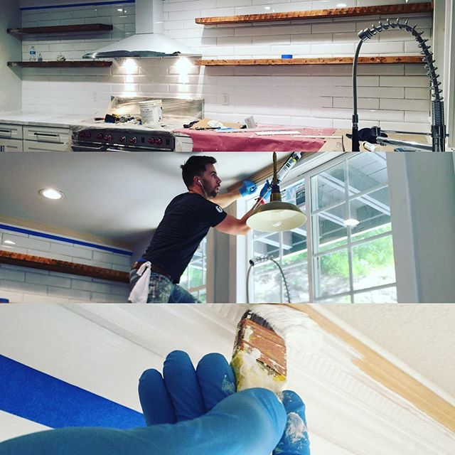 Wrapping up the kitchen!!!! _michaeljdionne _thedionnetwins _hgtv #hgtv #weekendwarrior #design