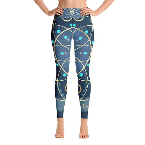 Midnight Ocean Chakra Yoga Leggings