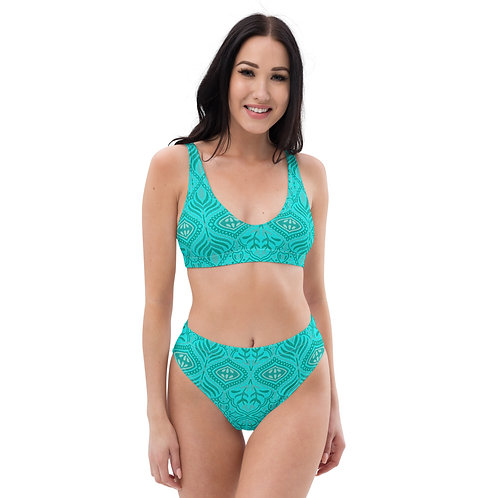 Indian Summer Recycled high-waisted bikini