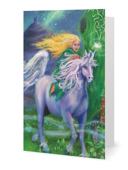 """x5 """"Guidance"""" Hand Embellished Greetings Card (Code GC 14)"""
