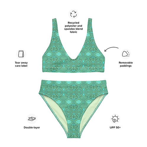 Elven Summer Recycled high-waisted bikini
