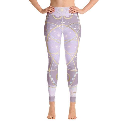 Lavender Violet Flame Chakra Yoga Leggings