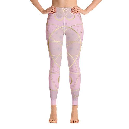 Rose Pink Ray Chakra Yoga Leggings