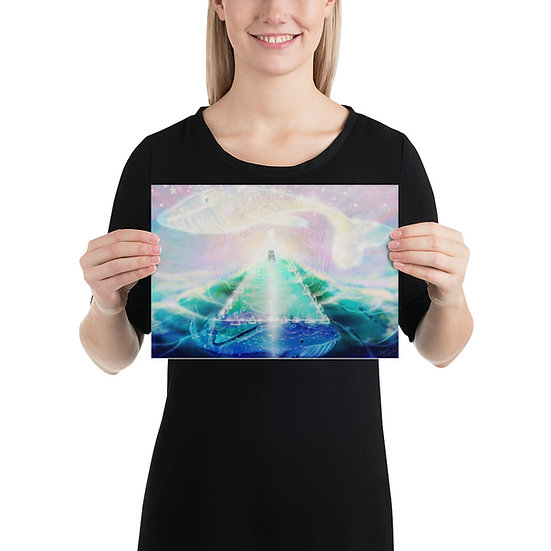 Whales on Tor Museum Quality Print