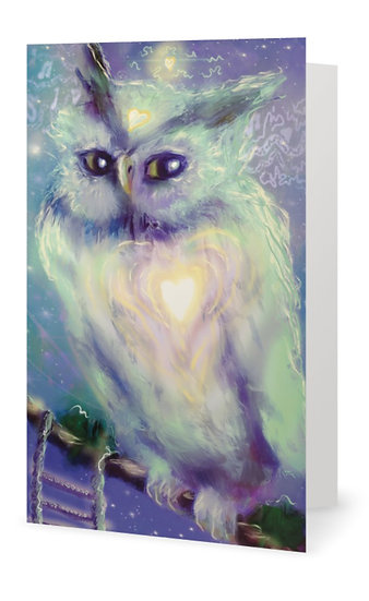 """x 5 """"Observe"""" Hand Embellished Greetings Card (Code GC 8)"""