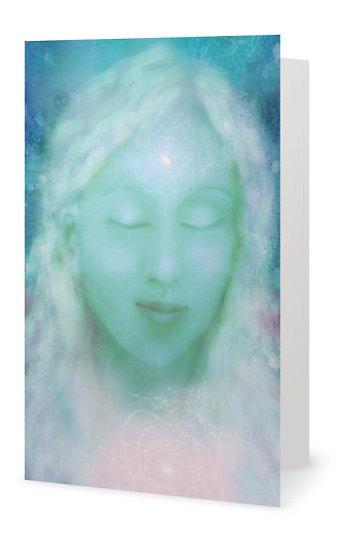 """Divine Feminine"" Hand Embellished Greetings Card"