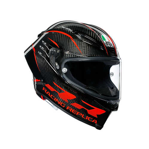 PISTA GP RR ECE DOT MULTI - PERFORMANCE CARBON/RED