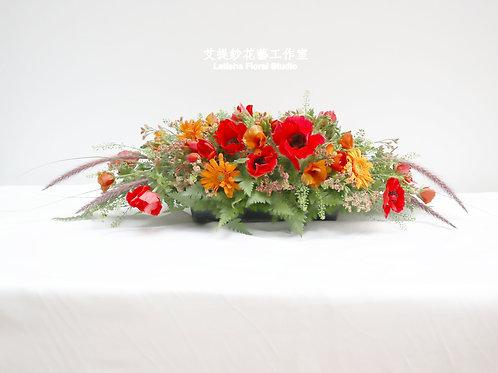 餐桌花/長桌花/講桌花 (當季花材設計)
