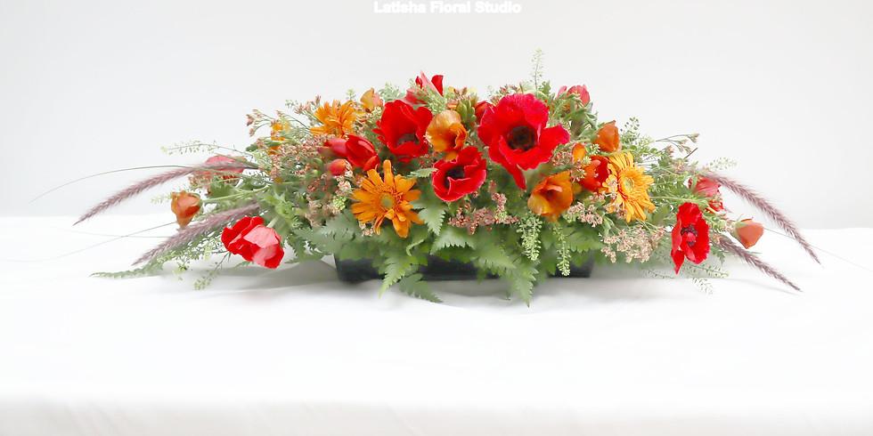 基礎歐式插花課程-長桌花