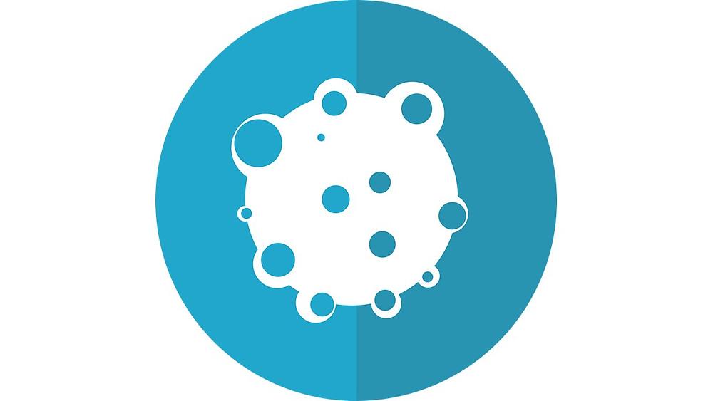 Icóno célula azul (cáncer)