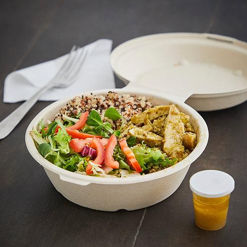 Pesto kylling salat med kogt quinoa