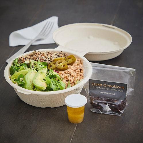 Spicy tun salat med kogt quinoa