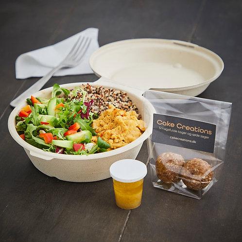 Hummus salat med kogt quinoa