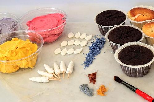 Pynt-selv enhjørninge cupcake sæt
