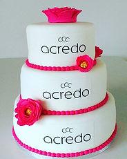 _acredo_lounge Logo wedding cake with ho