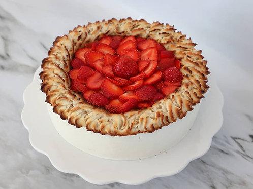 Jordbærtærte lagkage