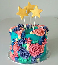 Coral Reef Cake with star embellishments
