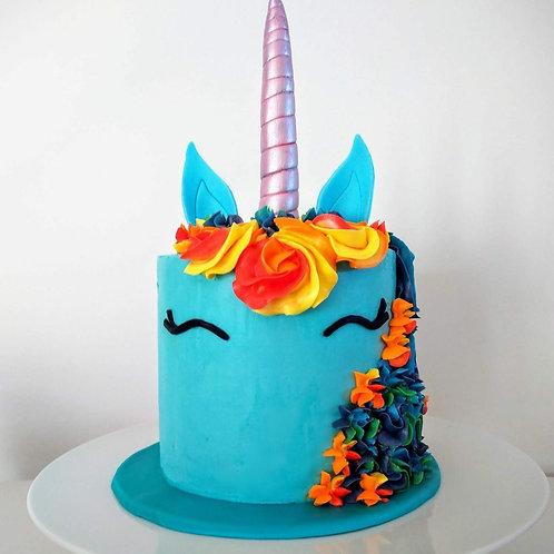 Rainbow Dash unicorn (enhjørninge) kage