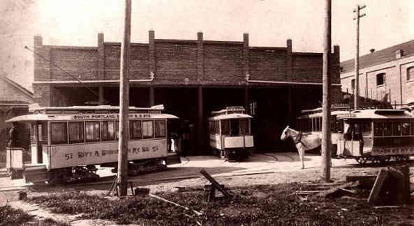Streetcar Barn @ 23rd & Savier 1892