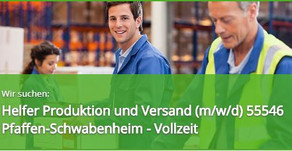 Helfer Produktion (m/w/d) in 55546  Pfaffen-Schwabenheim- Vollzeit - TOP Stellenangebot und Jobs