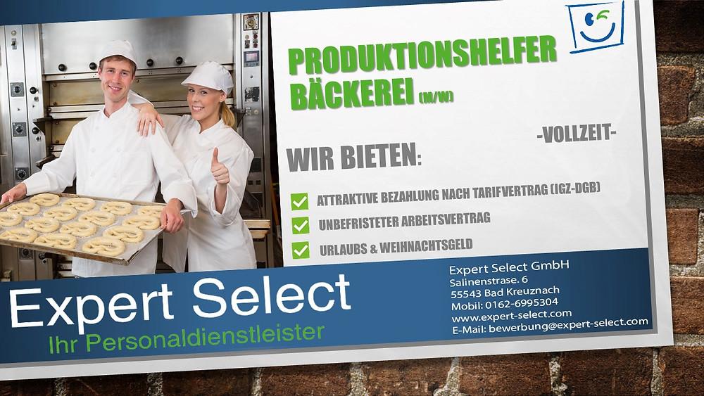 Produktionshelfer Bäckerei (m/w) Vollzeit in Mainz Rüsselsheim Bingen Koblenz Kaiserslautern Arbeitnehmerüberlassung Zeitarbeit Bad Kreuznach