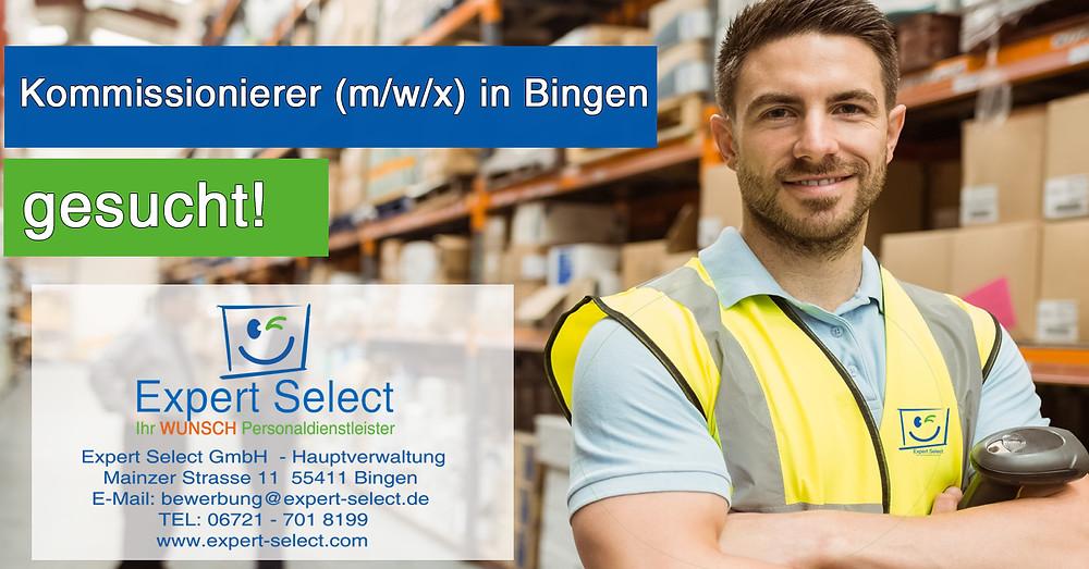 Kommissionierer (m/w/x) 55411 Bingen, Helfer Bingen, Expert Select GmbH Bad Kreuznach und Bingen Jobs Stellenangebot