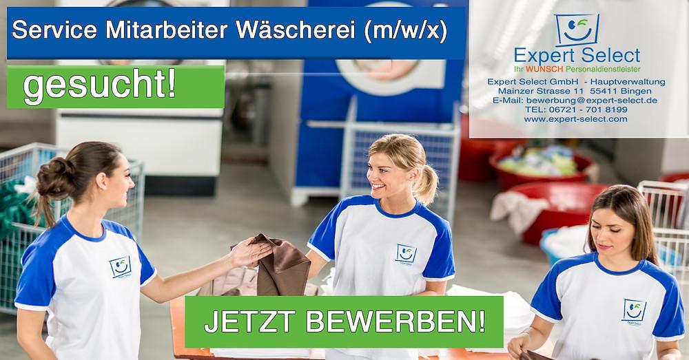 Service Mitarbeiter (m/w/x) Wäschrei in 55543 Bad Kreuznach bei Ihrem WUNSCH Personaldienstleister für Bad Kreuznach und Bingen am Rhein