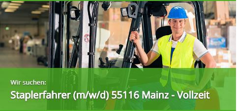 Zeitarbeitsfirma 55116 Mainz Personaldienstleister Leihfirma Staplerfahrer