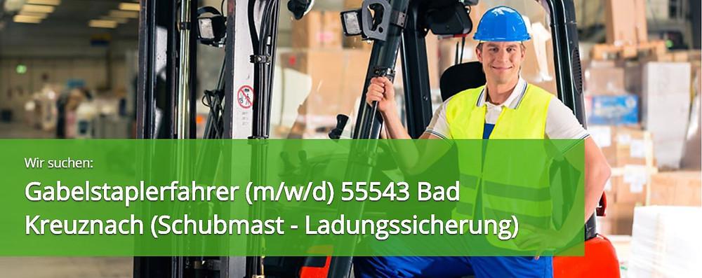 Staplerfahrer (m/w/d) in 55543 Bad Kreuznach Vollzeit - Schubmast Expert Select  Zeitarbeit Personaldienstleister