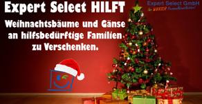 Expert Select Hilft: Weihnachtsbäume und frische Gänse an bedürftige Familie zu verschenken!