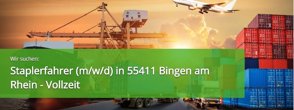 Staplerfahrer (m/w/d) 55411 Bingen am Rhein - Expert Select GmbH  Zeitarbeit  Personaldienstleister