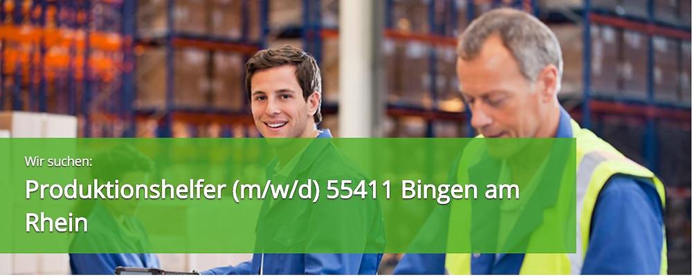 Helfer Produktion 55411 Bingen am Rhein Job Jobs Stellenanzeige Stellenangebot 55411 Bingen Expert Select GmbH