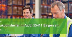 Helfer Produktion (m/w/d) in 55411 Bingen am Rhein Vollzeit - TOP Stellenangebot und Jobs in Bingen