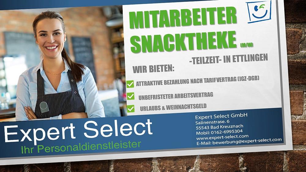 Snacktheke, Bad Kreuznach, Expert Select GmbH Zeitarbeit Bad Kreuznach