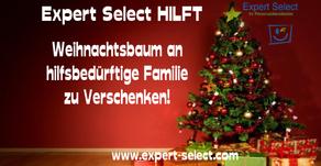 Expert Select Hilft: Weihnachtsbaum an eine bedürftige Familie zu verschenken!