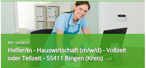 Helfer Hauswirtschaft 55411 Bingen am Rhein, Reinigungskraft Bingen Zeitarbeitsfirma 55543 Personaldienstleister Bad Kreuznach Zeitarbeitsfirma Expert Select GmbH