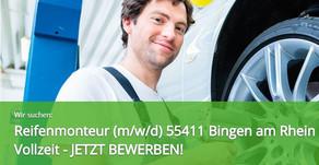Kfz-Mitarbeiter (m/w/d) (Reifenmonteur/in) 55411 Bingen am Rhein - Vollzeit - JETZT BEWERBEN!