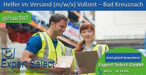 Helfer im Versand (m/w/d) in 55543 Bad Kreuznach- Vollzeit - JETZT BEWERBEN! Expert Select GmbH