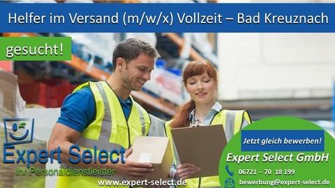 Helfer Lager Versand 55543 Bad Kreuznach Vollzeit Top Job Jobs Stellenangebot Stellenanzeige Expert Select GmbH Zeitarbeitsfirma 55543  Personaldienstleister