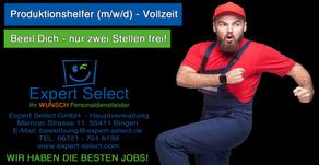Helfer Produktion (m/w/d) in 55218 Ingelheim am Rhein. Zeitarbeit geht auch fair! Bei Expert Select!
