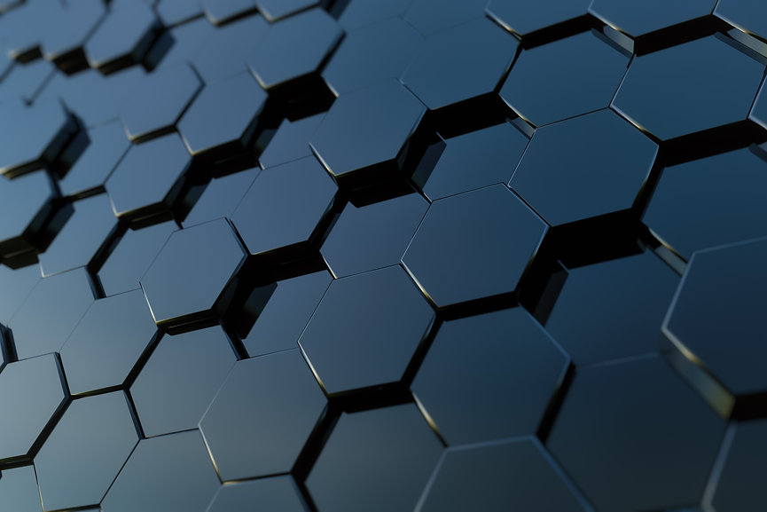 abstract-hexagon-background-3d-rendering