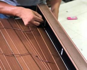 Manutenção Persiana Horizontal de madeira