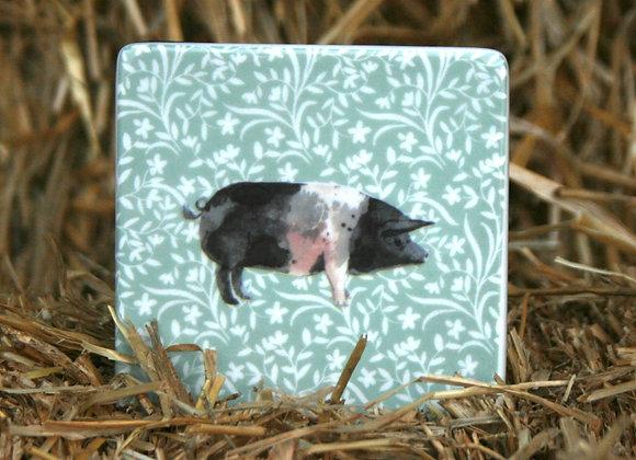 Gisella Graham Ceramic Pig Coaster
